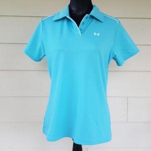 UNDER ARMOUR Ladies Semi-fit Golf Polo Shirt (L)